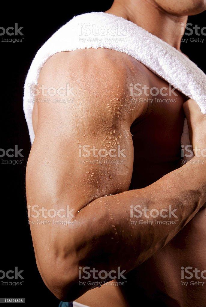 Man Biceps royalty-free stock photo