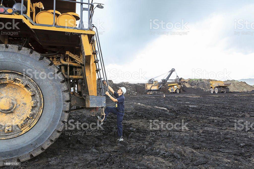 Man  big Truck Driver stock photo