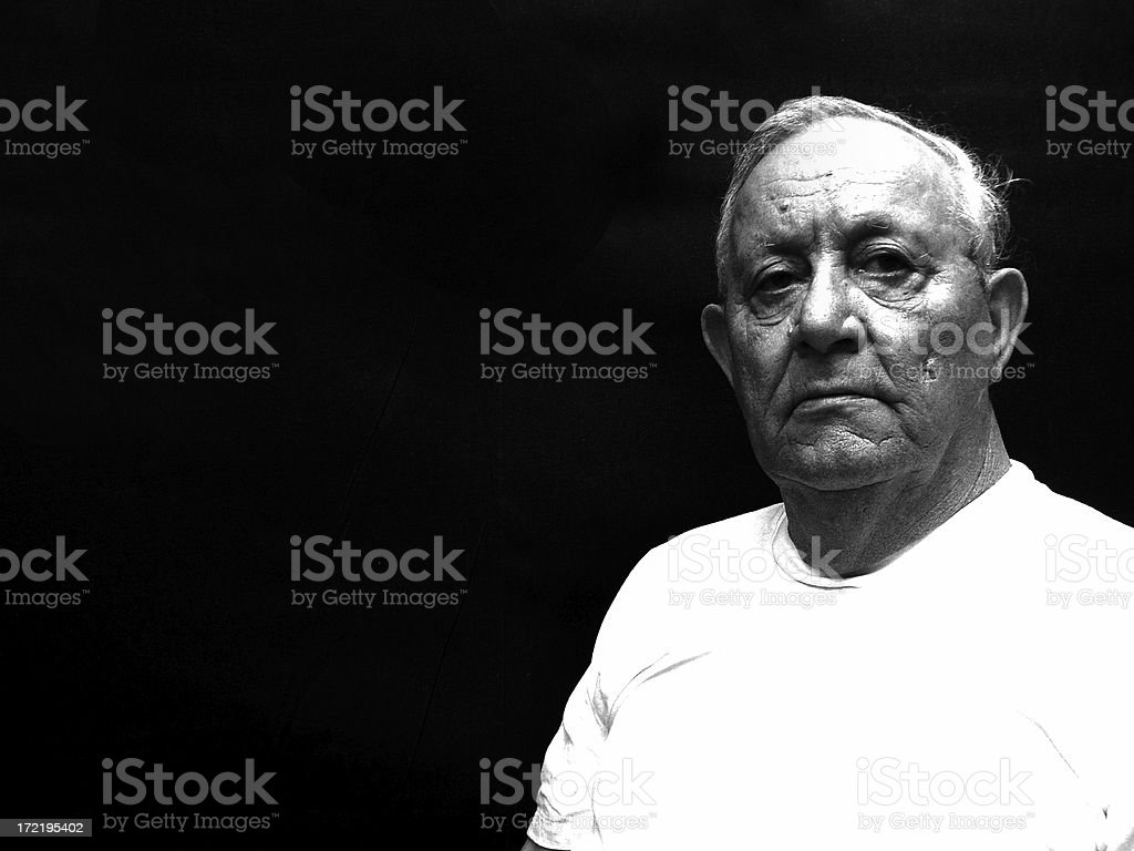 Man - Black and White royalty-free stock photo