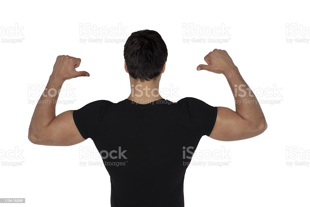 Man black t-shirt royalty-free stock photo