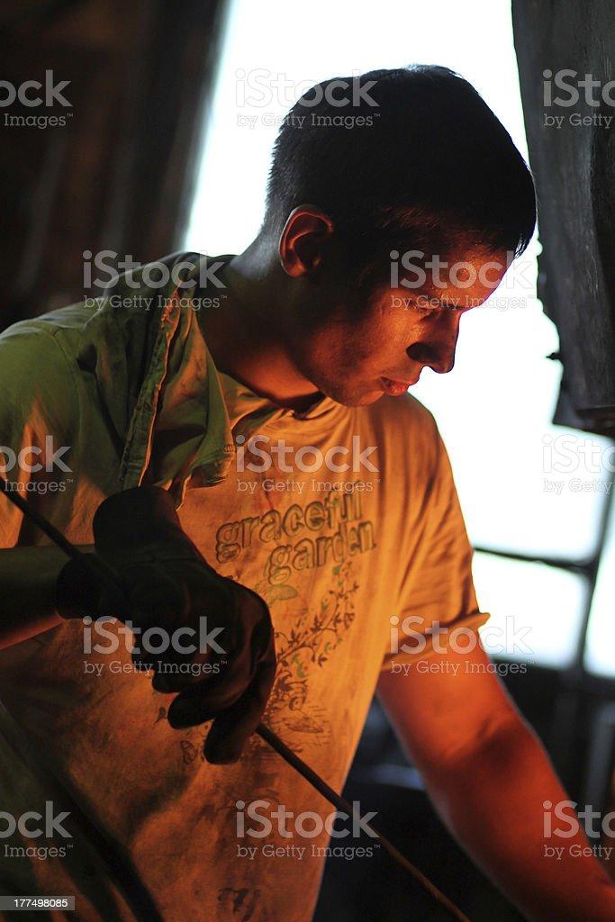 Man blacksmith. royalty-free stock photo