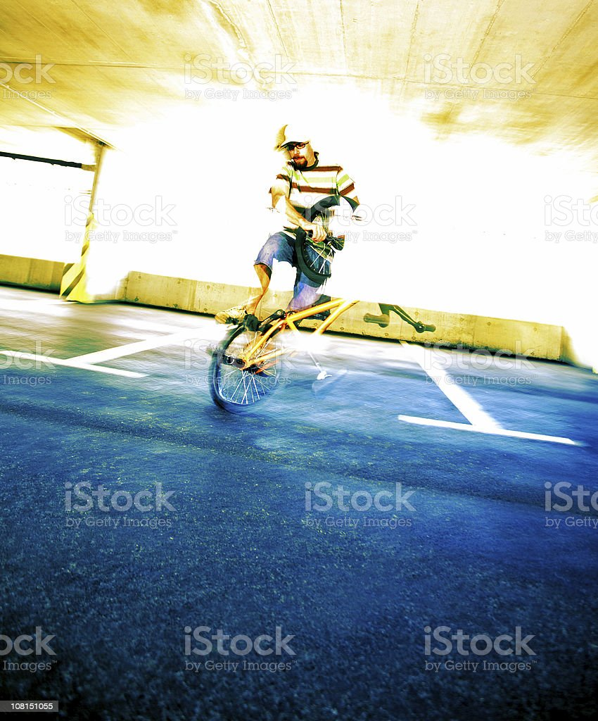 Man BMX Cycling royalty-free stock photo