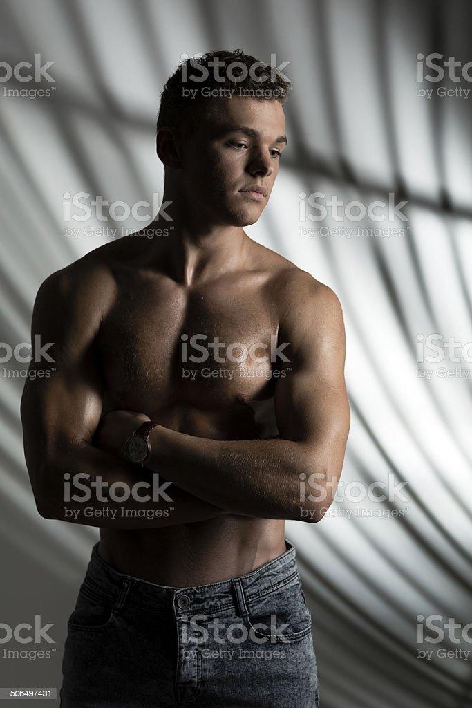 Man body Three Quarter portrait royalty-free stock photo