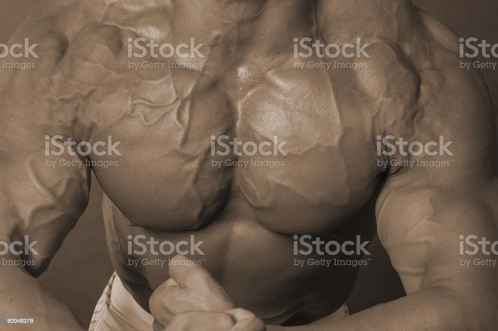 Man boobs stock photo
