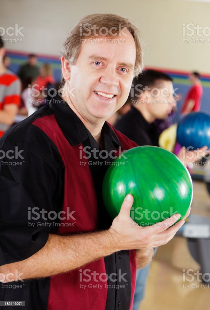 Man Bowling stock photo