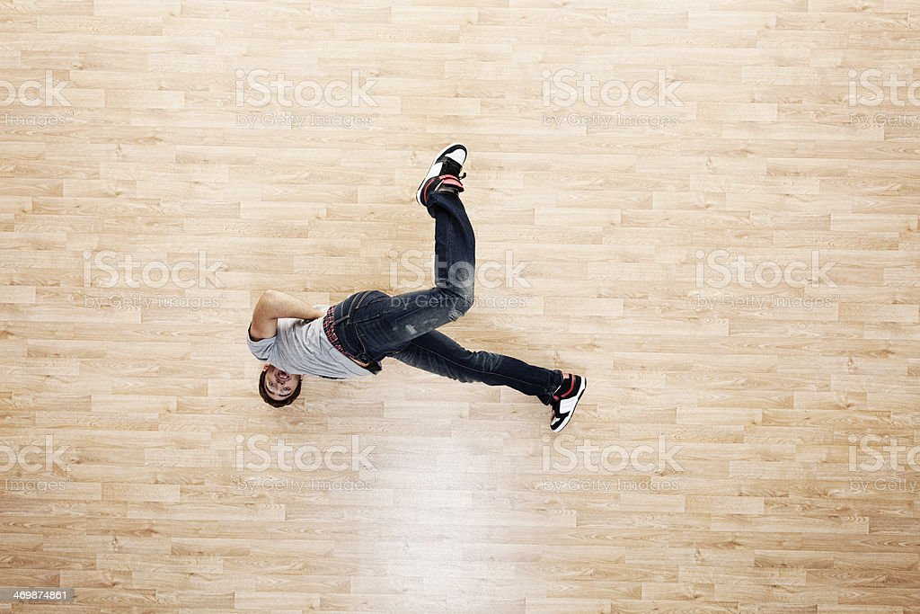 Man breakdancing royalty-free stock photo