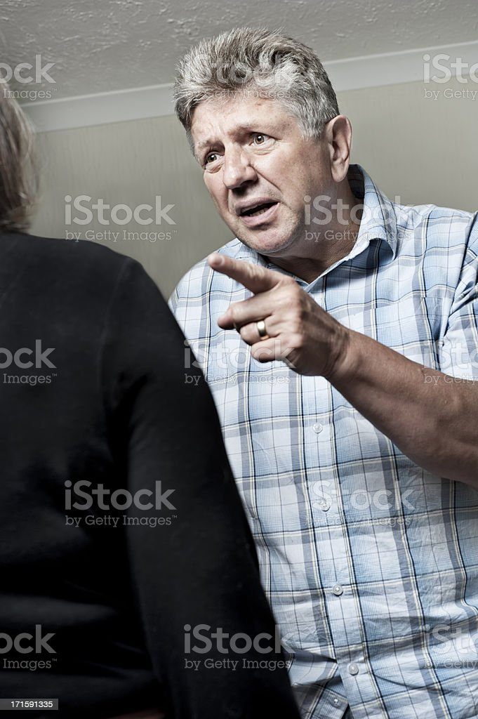 Man bullying woman/worker royalty-free stock photo
