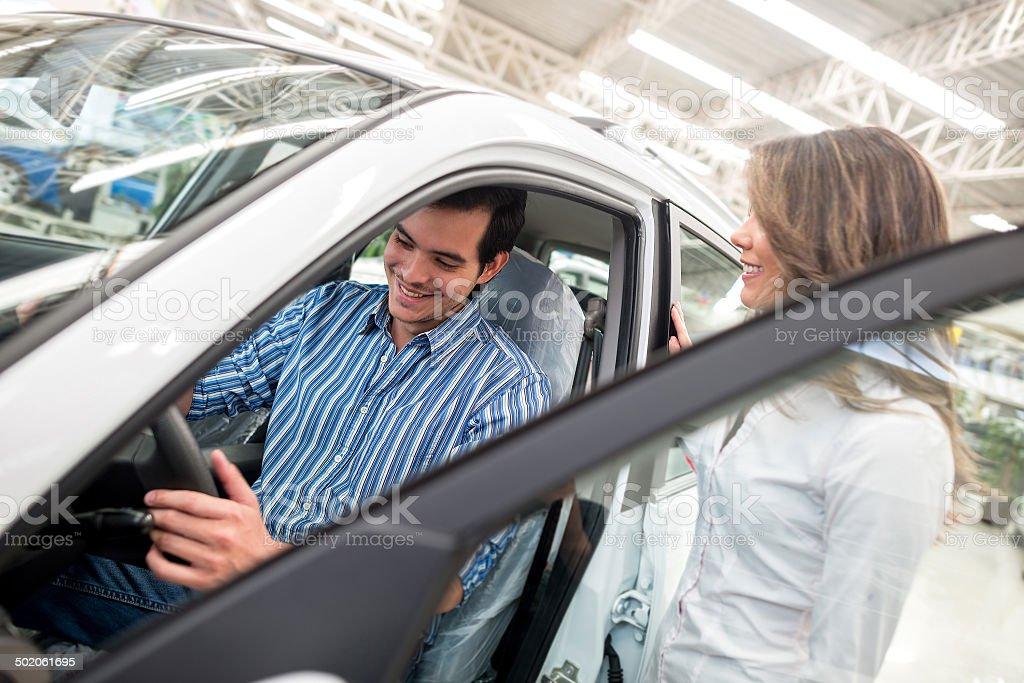 Man buying a car stock photo