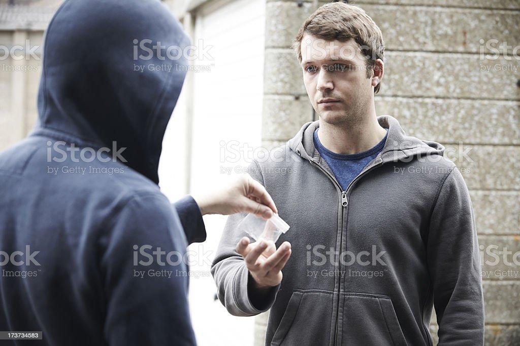 Man Buying Drugs On Street royalty-free stock photo