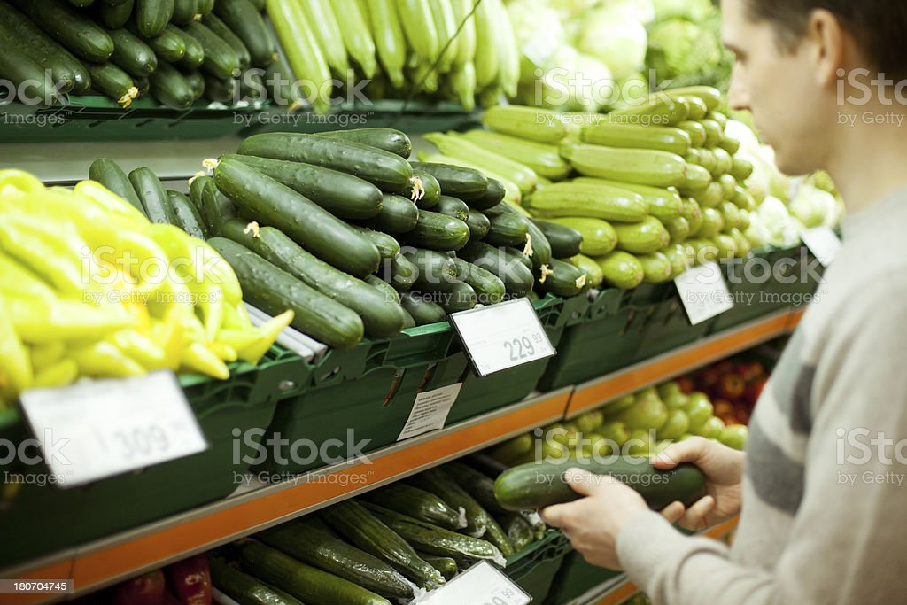 Man buying vegetables. royalty-free stock photo