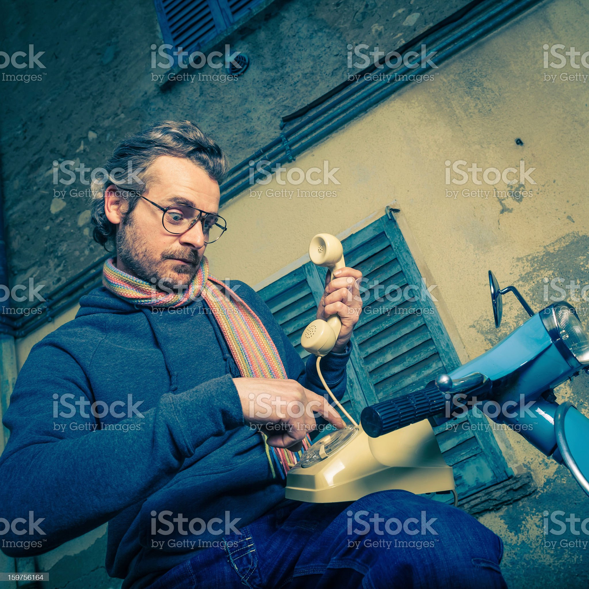Man calls on the Phone royalty-free stock photo