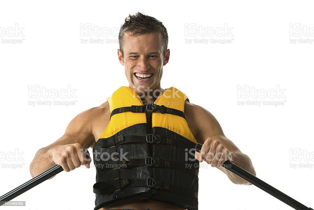 Man canoeing royalty-free stock photo