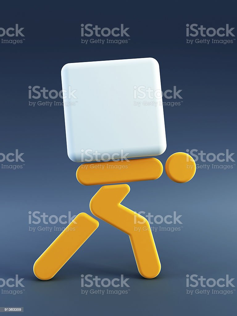 man carrying the load royalty-free stock photo