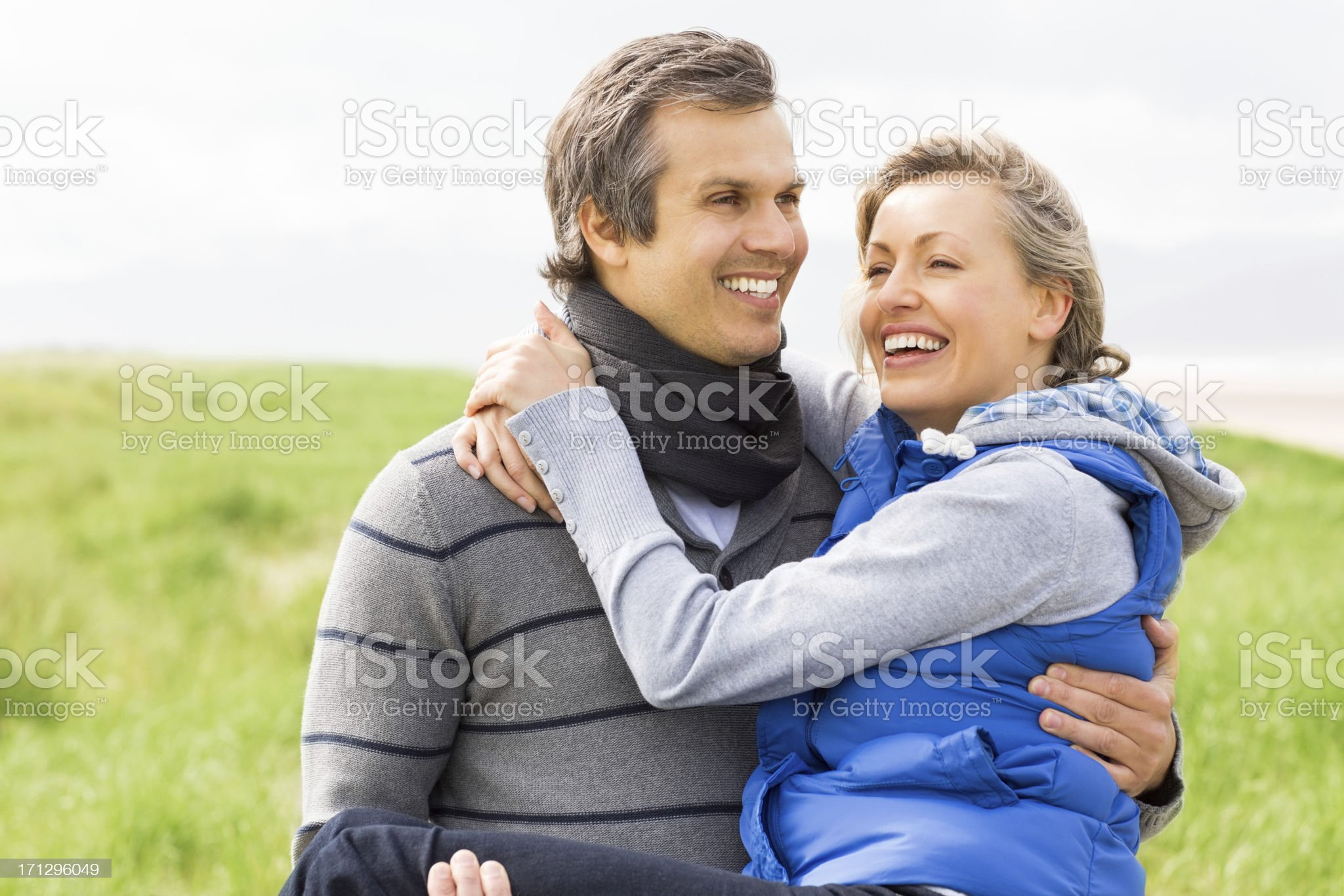 Man Carrying Woman In Arms royalty-free stock photo