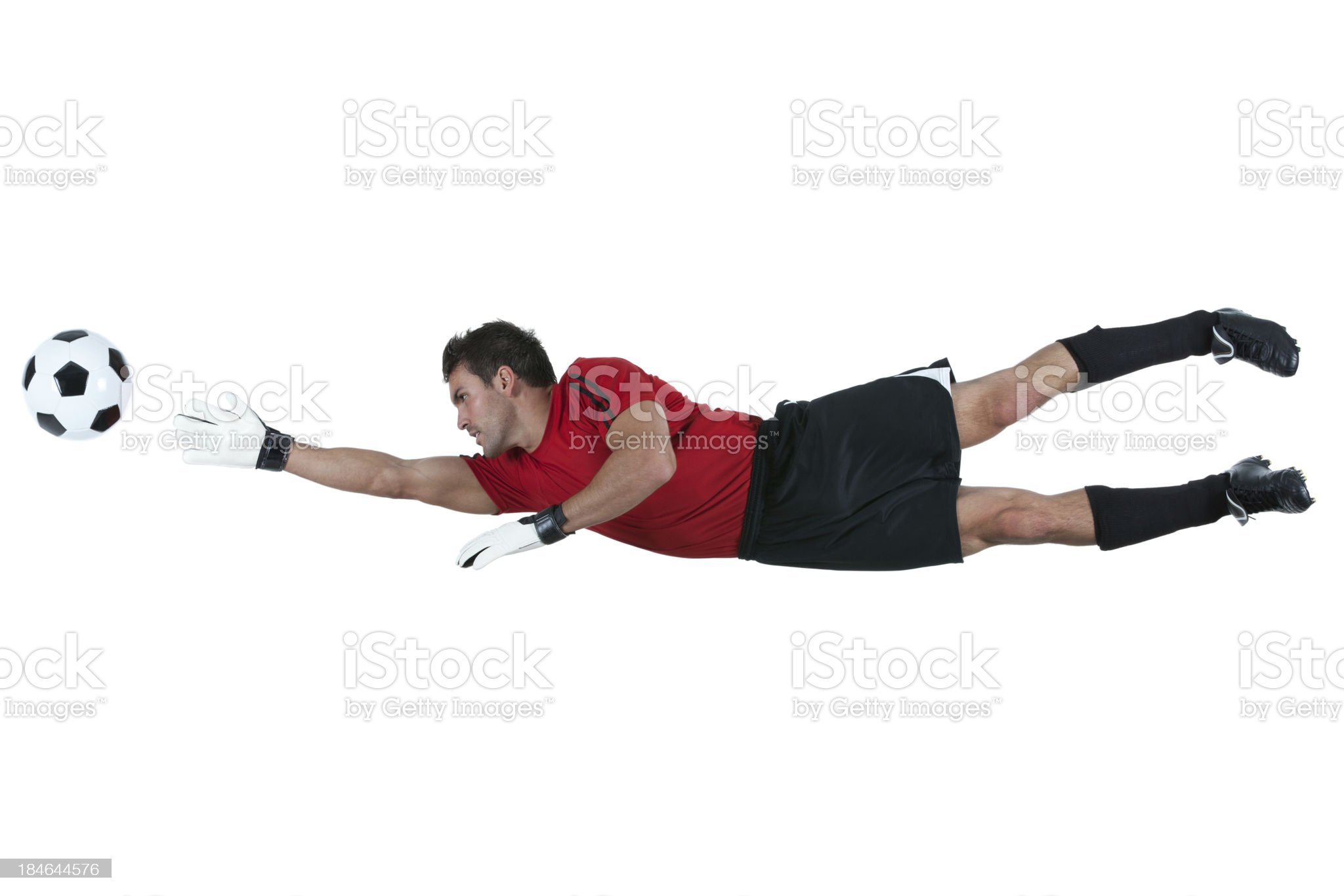 Man catching a football royalty-free stock photo