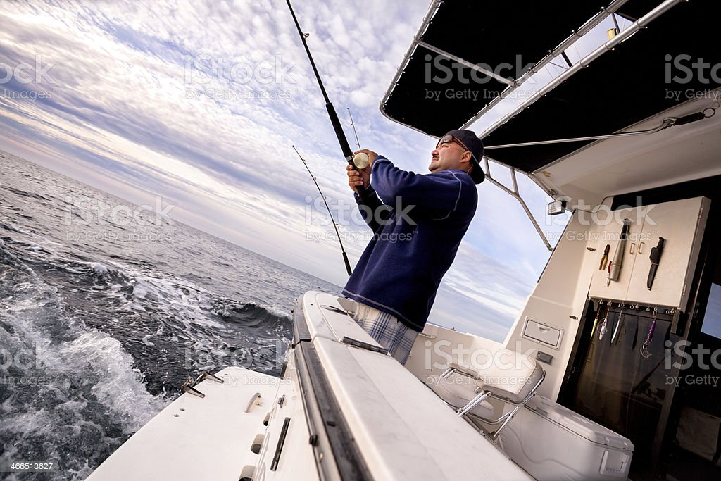 Man Catching Fish royalty-free stock photo