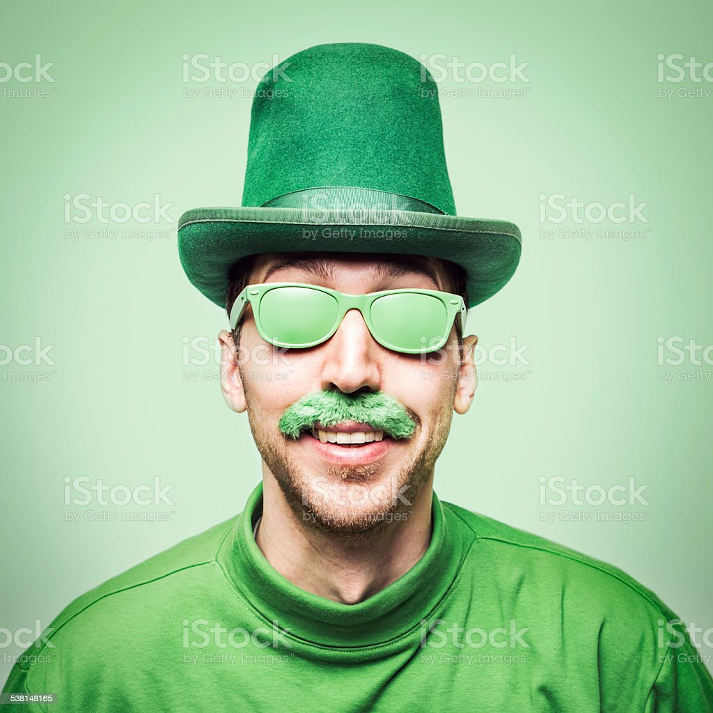 Man Celebrating Saint Patricks Day stock photo