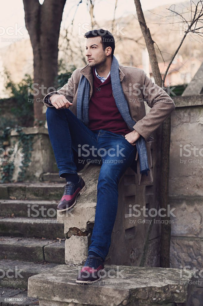 Man... Charismatic, Beautiful, Individual, Extraordinary. stock photo