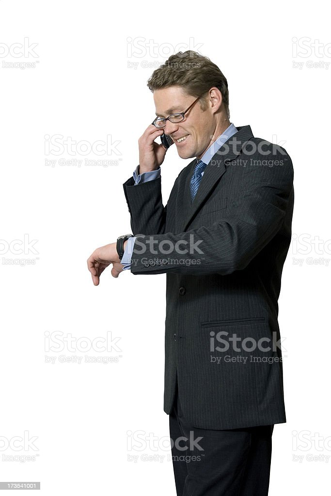 Man Checks the Time royalty-free stock photo