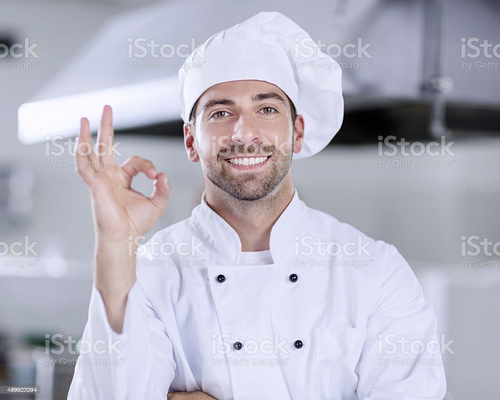 Man chef stock photo