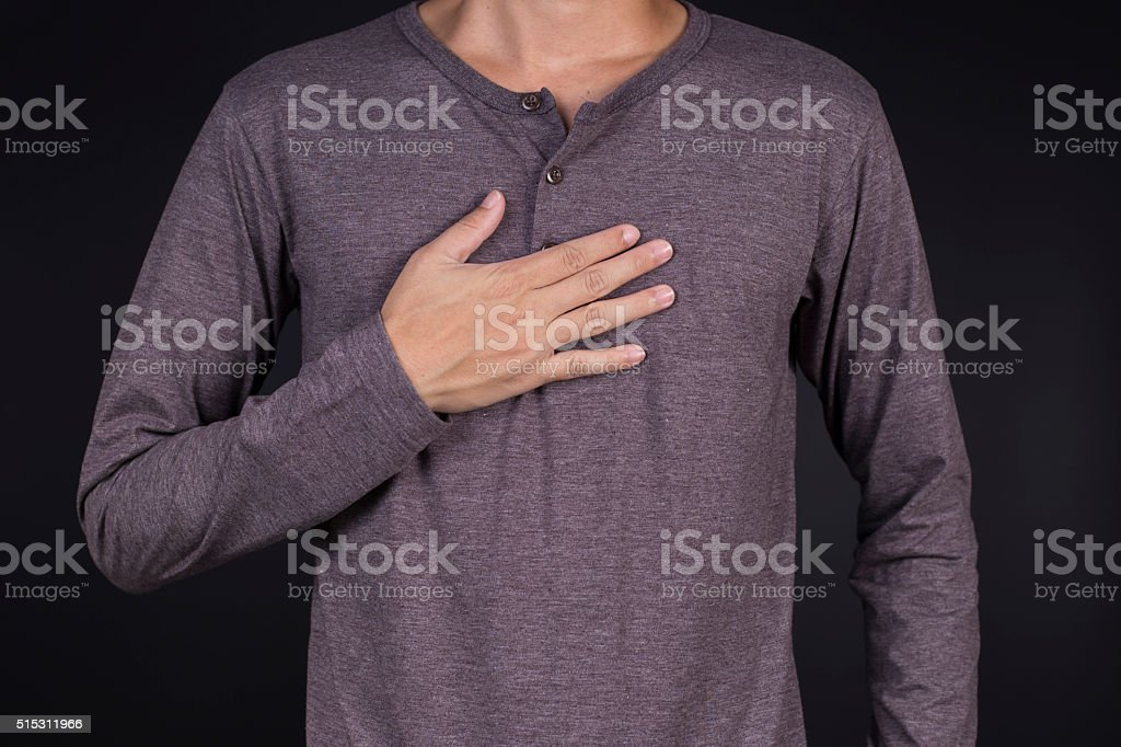 Man: Chest Pain stock photo