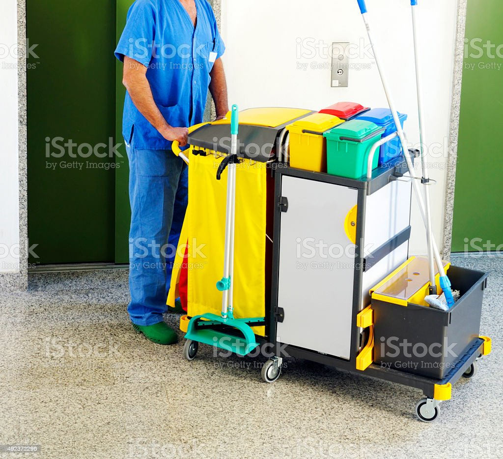 Man cleaning stock photo