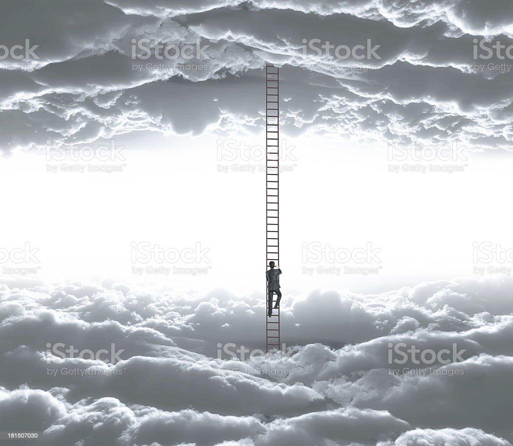 man climbing royalty-free stock photo