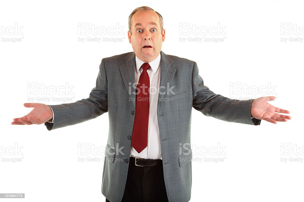 Man Clueless or Perplexed About Something royalty-free stock photo