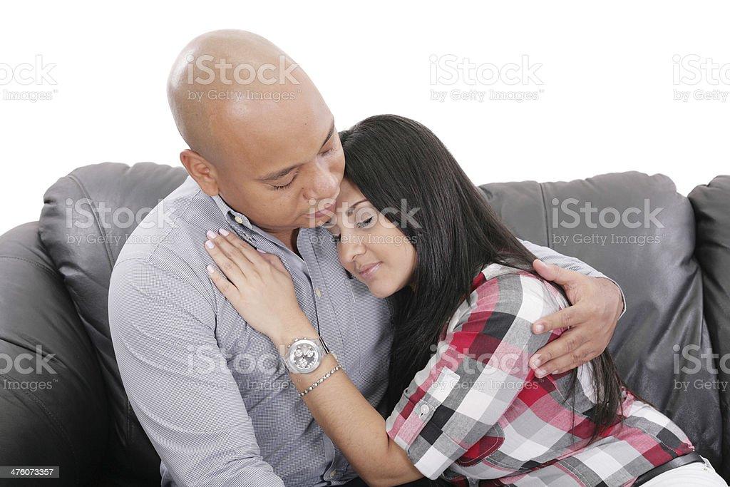 Man Comforting A Woman royalty-free stock photo