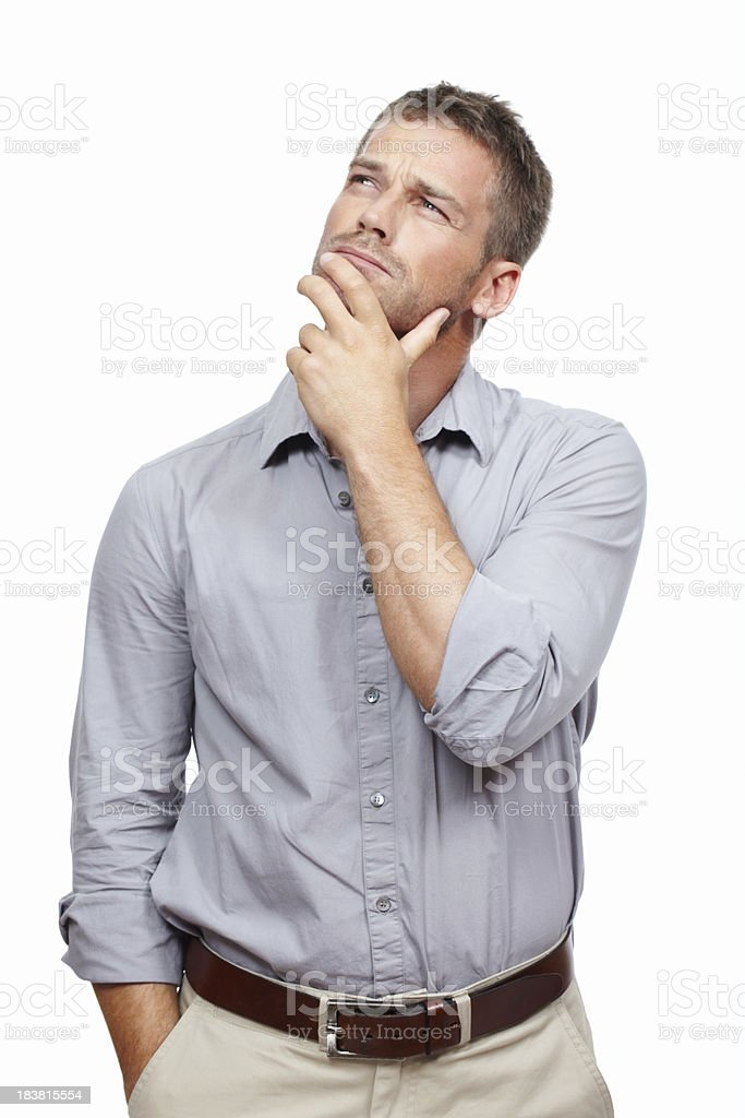 Man contemplating royalty-free stock photo