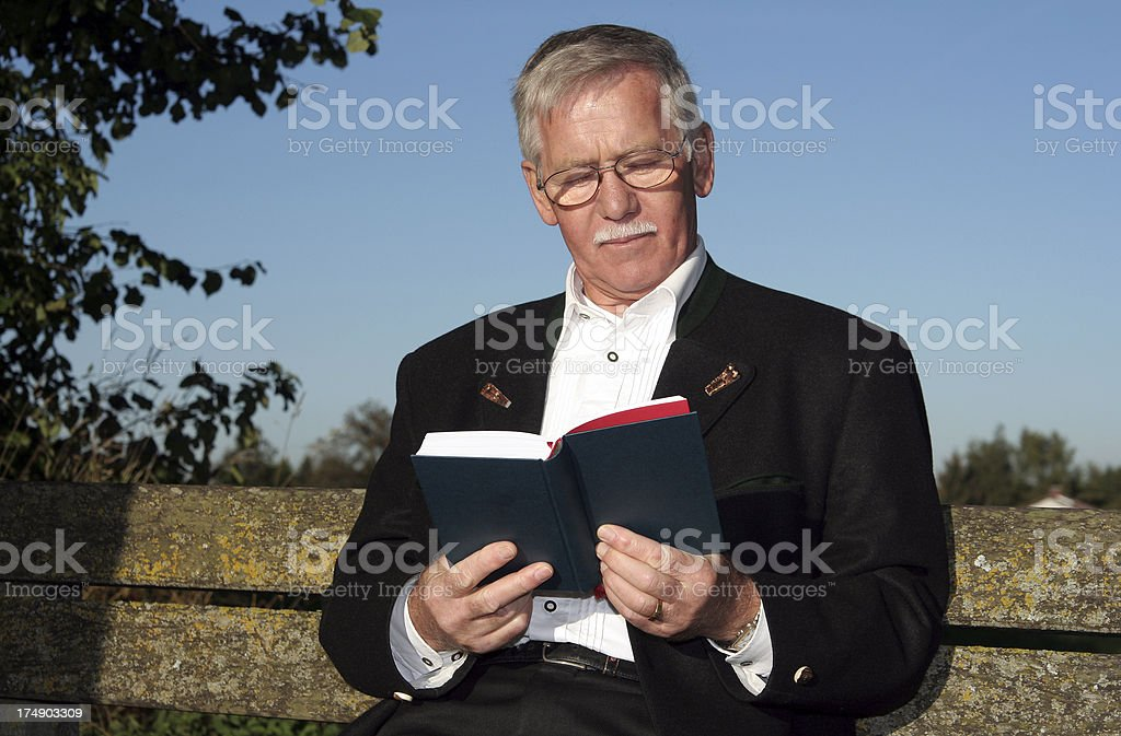 Man continues his education royalty-free stock photo