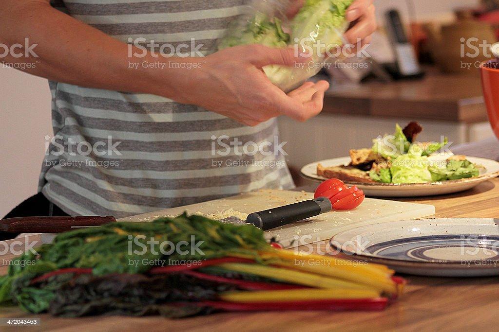 Uomo Cucinare foto stock royalty-free