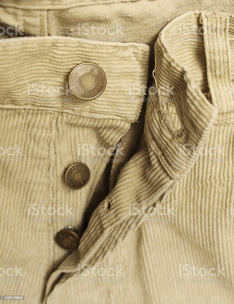 man corduroy pants stock photo