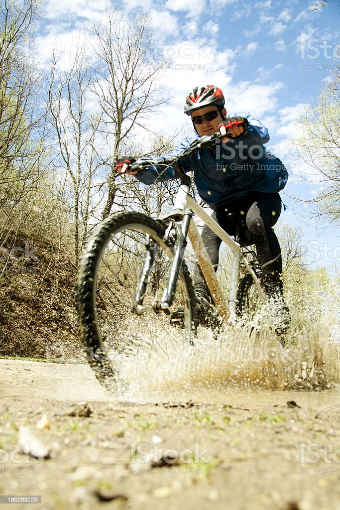 man cycling in nature royalty-free stock photo