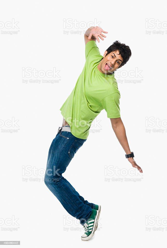 Man dancing stock photo