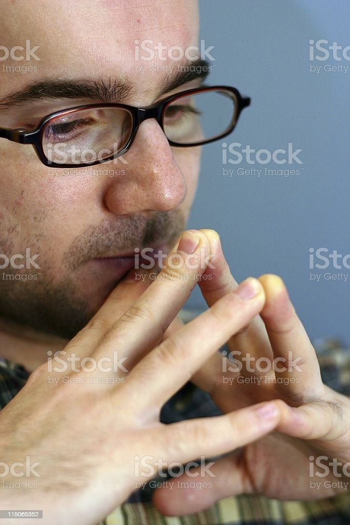 Man Deep in Thought royalty-free stock photo