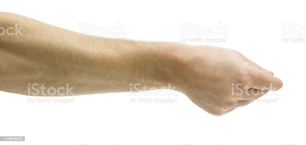 Man Delivers Invisible Paper stock photo