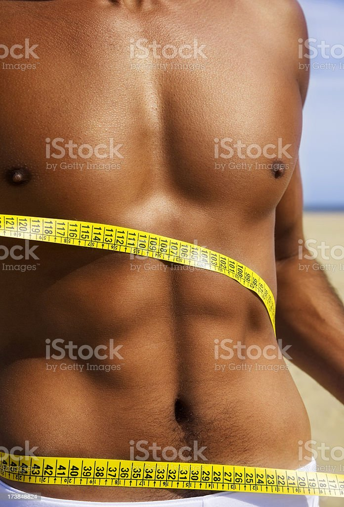 Man Diet royalty-free stock photo