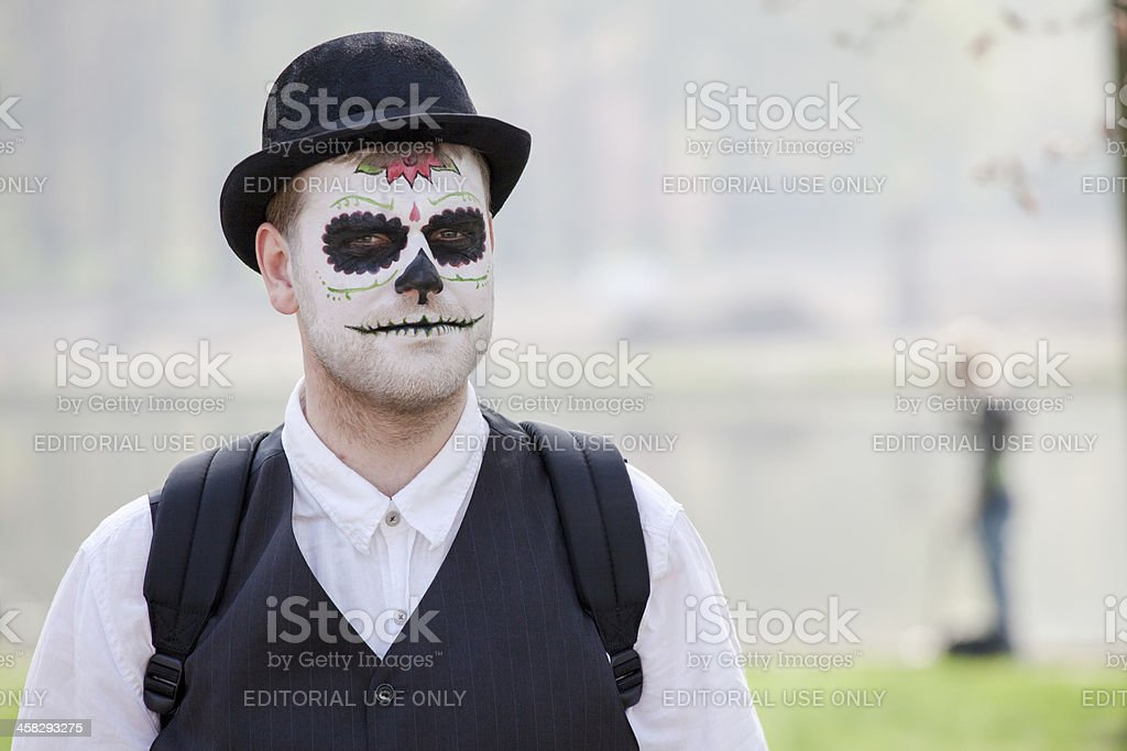 Man disguised as a zombie at Fantasy Fair royalty-free stock photo