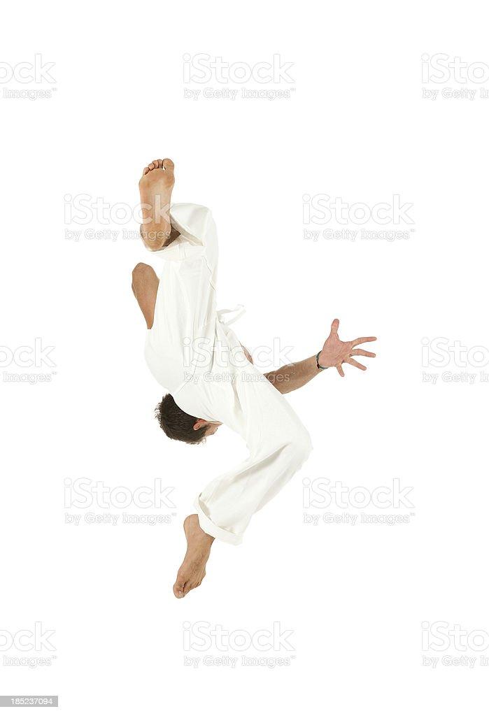 Man doing backflip royalty-free stock photo