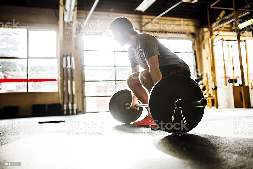 Man Doing Cross Training Workout stock photo