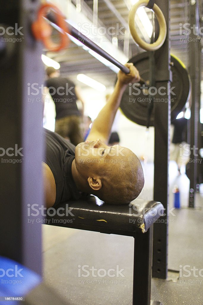 man doing gym training royalty-free stock photo