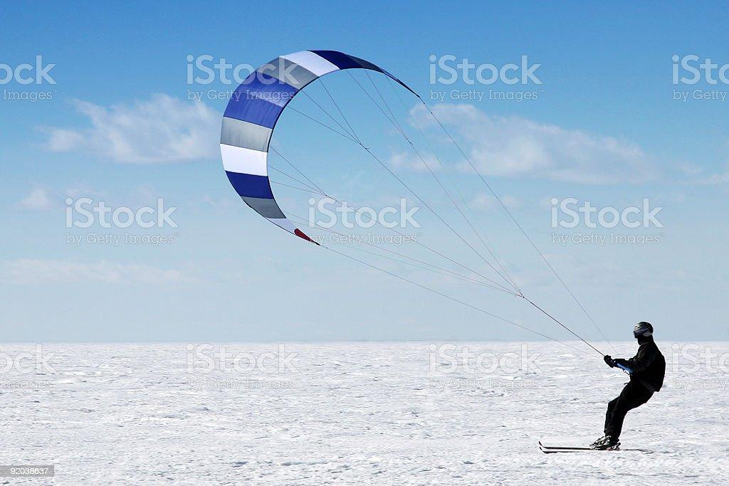 Man doing paraski on a lake royalty-free stock photo