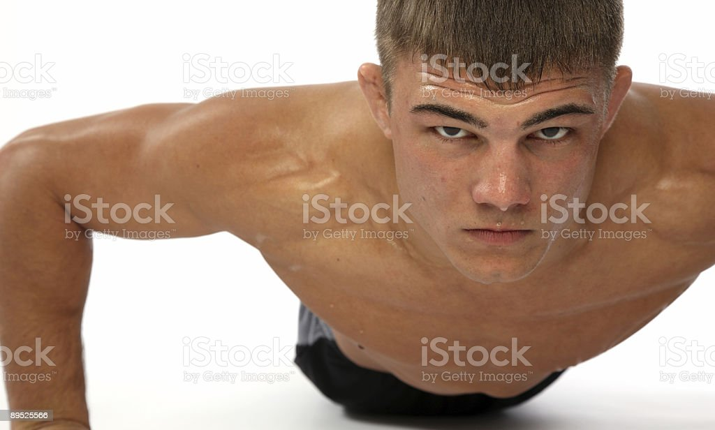 Man doing push-ups royalty-free stock photo