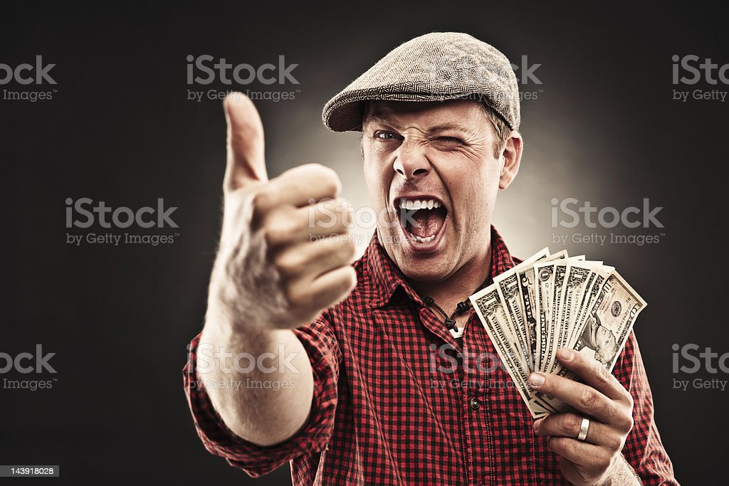 Man doing thumbs up royalty-free stock photo