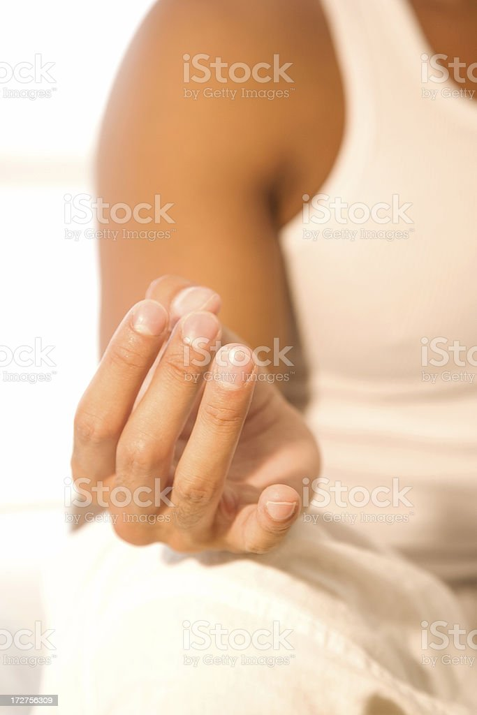 Man Doing Yoga royalty-free stock photo