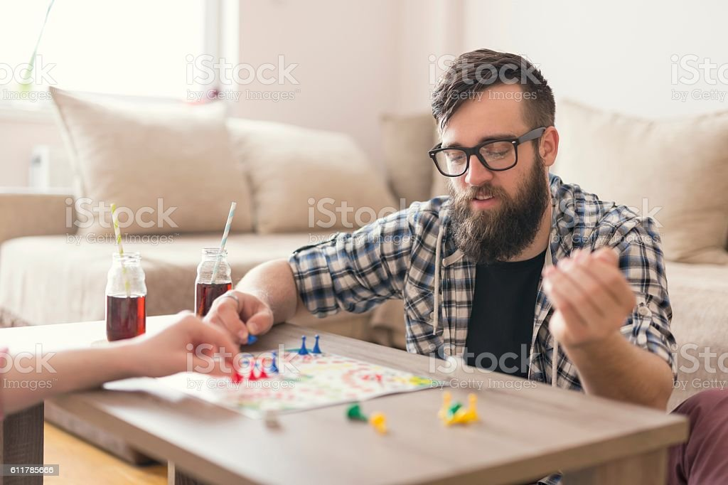Man don't get angry stock photo