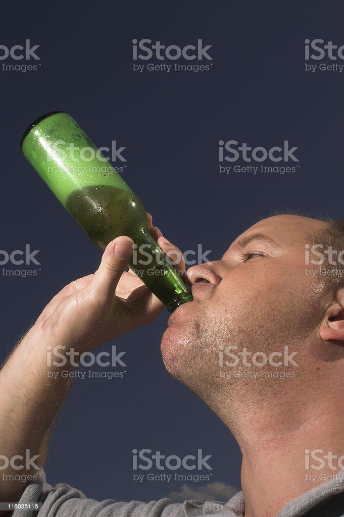 Man Drinking Beer stock photo