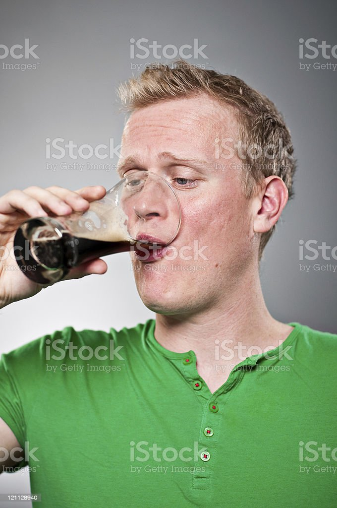 Man Drinking Beer Portrait royalty-free stock photo