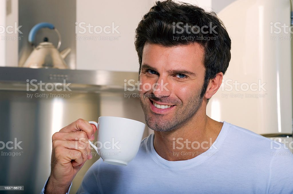 man drinking coffee royalty-free stock photo